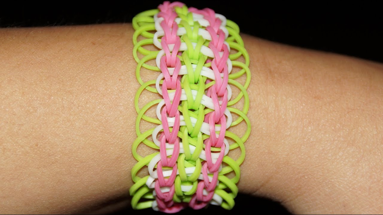 loom bandz rainbow loom dreifach armband anleitung deutsch youtube. Black Bedroom Furniture Sets. Home Design Ideas