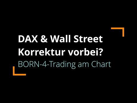 DAX & Wall Street: Korrektur in Pause oder schon vorbei? | BORN-4-Trading