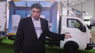 KG Prasad Head Sales & Marketing, SCV Trucks & Pickups at Tata Motors 360° E comm Expo, Gurugram