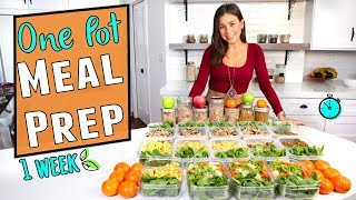 ONE POT 30 Min MEAL PREP for the Week🍲Easy + Vegan!