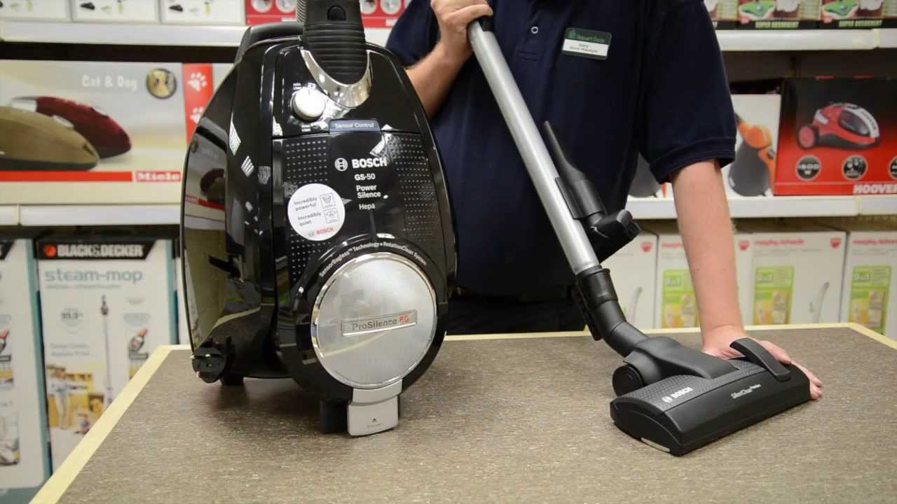 Bosch Power Silence Bagless Vacuum Cleaner   YouTube