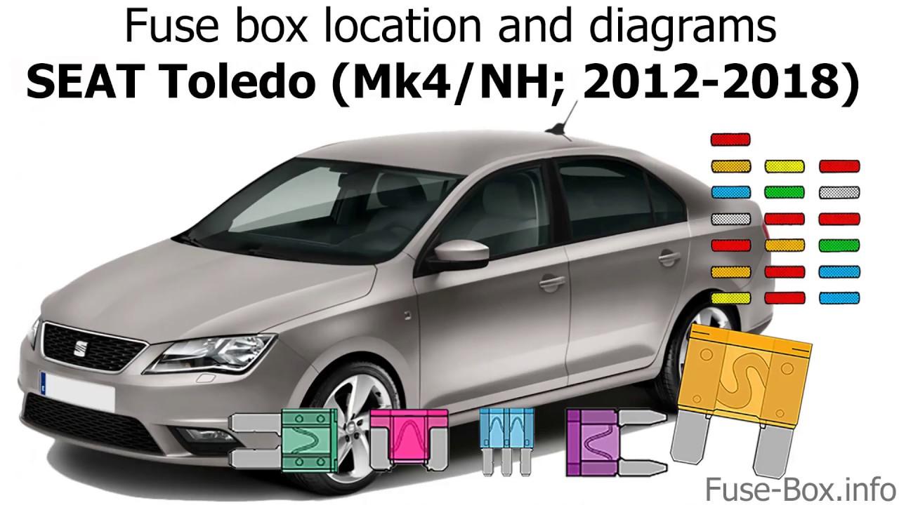 Fuse Box Location And Diagrams  Seat Toledo  2012-2018