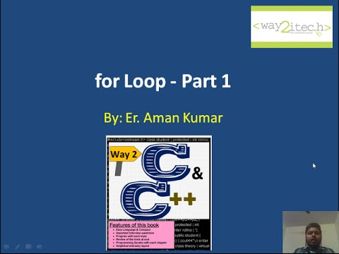 14.  For Loop in C and C++ Programming Language Part 1 By Aman Kumar