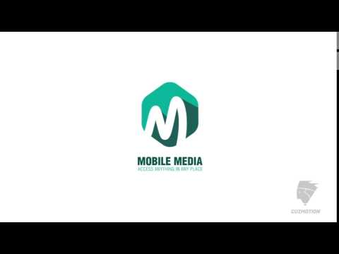Mobile media logo animation