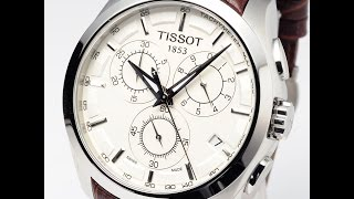TISSOT WATCH T035.617.16.031.00 BROWN COUTURIER LEATHER REVIEW MENS ティソ ブラウン クチュリエ レザー レビュー ブラウン 腕時計