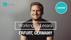 Das Lesara Logistik-Zentrum in Erfurt