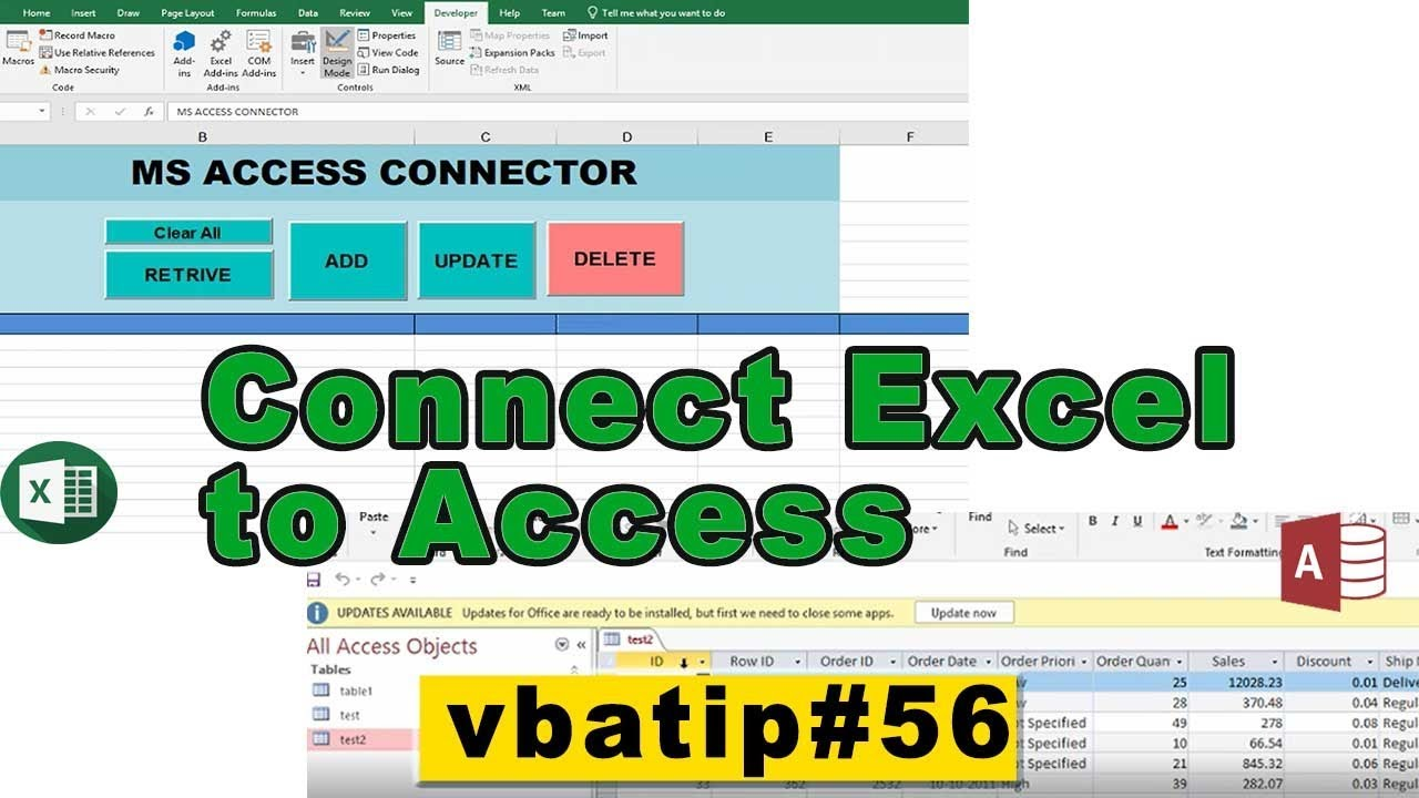 access connector | connect any access table to excel using vba - vbatip#56