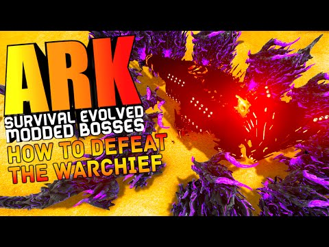 ARK Survival Evolved - HOW TO DEFEAT THE WARCHIEF, DRAGON GOD MODS, WARDENS Modded (ARK Gameplay)