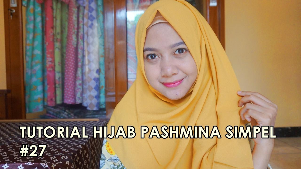 Tutorial Hijab Pashmina Simpel 27 Indahalzami YouTube