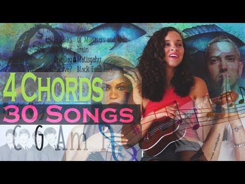 30 Songs Using Basic 4 Chords with Ukulele