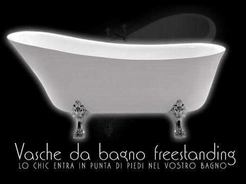 Vasca da bagno  vasche da bagno da appoggio freestanding Retranticate moderne design  YouTube