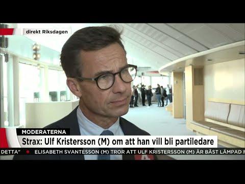 """Ulf Kristersson (M): """"Det är med alliansen jag vill regera"""" - Nyheterna (TV4)"""