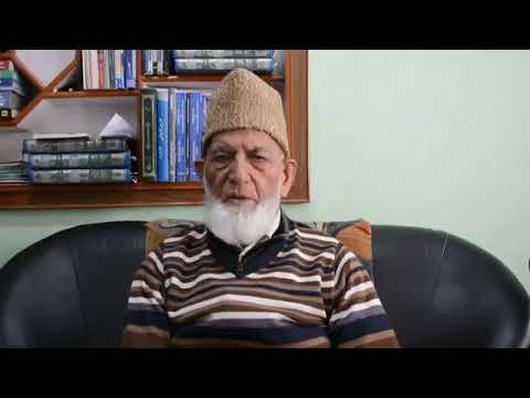 Hurriyat Conference (G) chairman Syed Ali Geelani on current situation: Asks youth not to do acts t