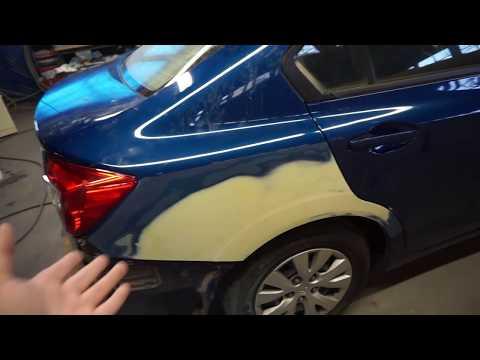Как зашпаклевать машину своими руками видео