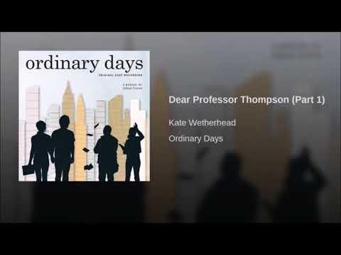 Ordinary Days-  soundtrack