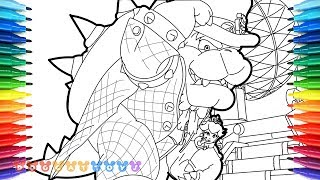 How to Draw Mario Odyssey, Bowser & Princess peach #37 | Drawing Coloring Pages for Kids