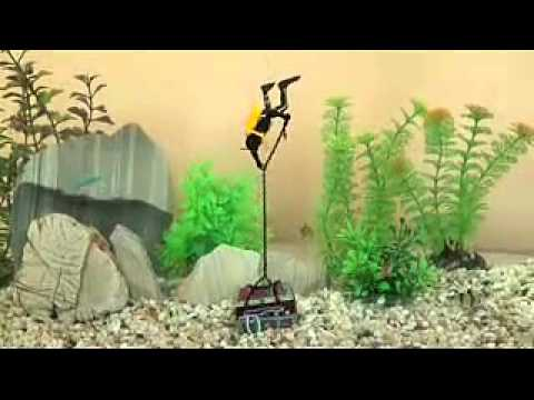 aquarium air operated decoration 0 65 treasure diver youtube