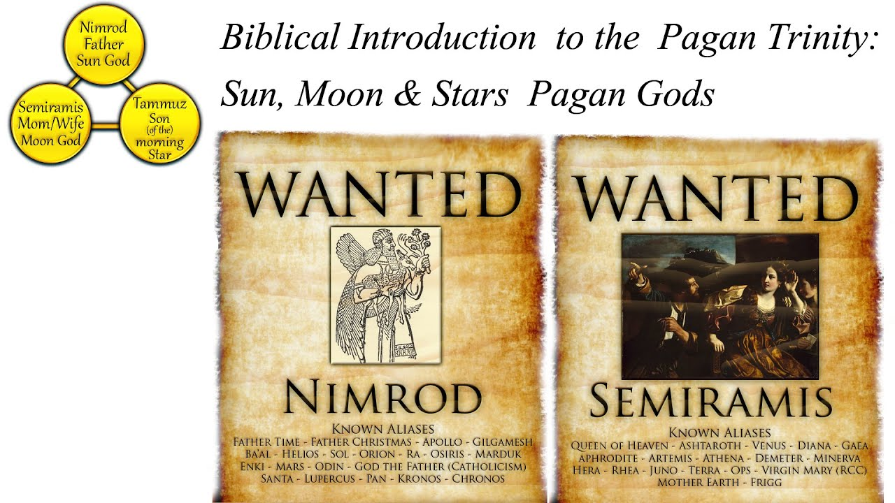Biblical Introduction To The Pagan Trinity Sun Moon Stars Pagan