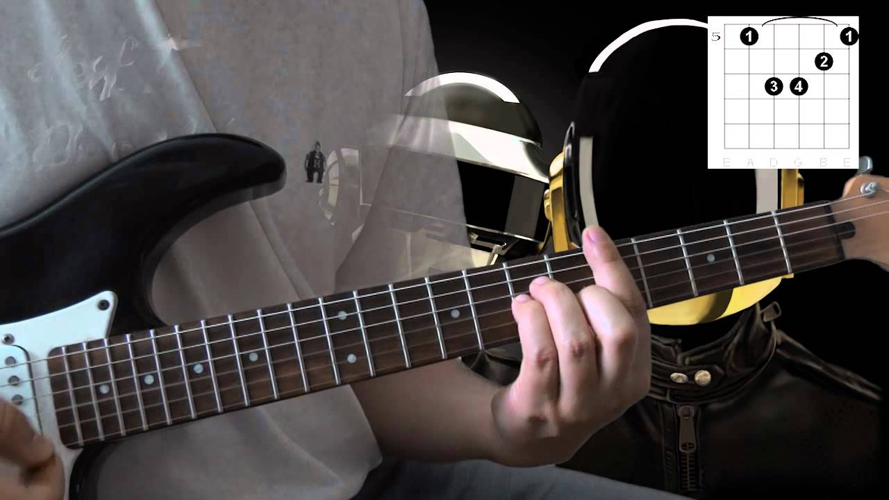 Daft Punk - Fragments of time (guitar chords tutorial )