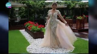 Абитуриентката Каролина Клер с  роклята си на стойност 15,000лв