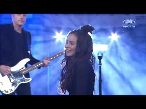 Amy Shark - C'MON ft. Travis Barker - Live at the 2020 NRL Grand Final