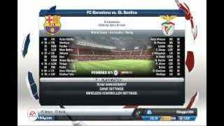 Fifa 13 |PS3| Gameplay - Barcelona vs Benfica