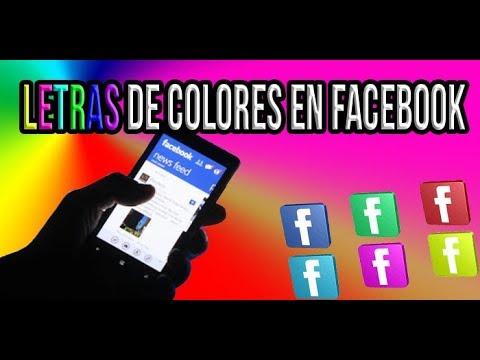 #Letras #Colores #Facebook Como Poner Letras De Colores En Facebook (Solo Funciona En Facebook Lite)