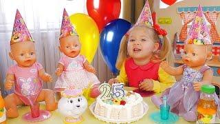 Святкуємо День Народження Ляльки Бебі Бон - БАГАТО ПОДАРУНКІВ і Торт Відео для Дітей