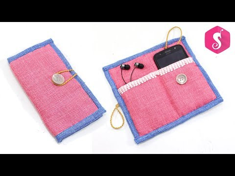 DIY HANDHELD MOBILE POUCH from CLOTHES