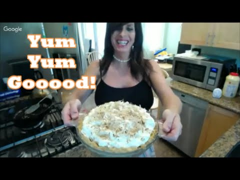 Live From the Rancho Kitchen!..Coconut Cream Pie! Happy Easter!