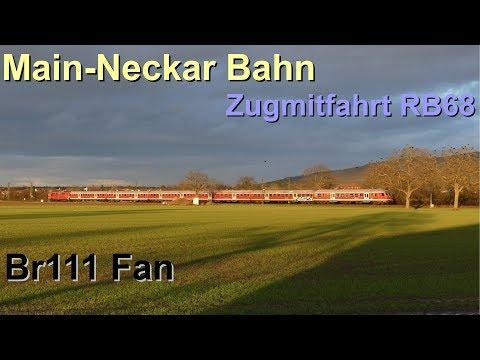 Br111 Fan: [Doku]: Main-Neckar Bahn Teil 2 Zugmitfahrt RB68 (n-Wagen)