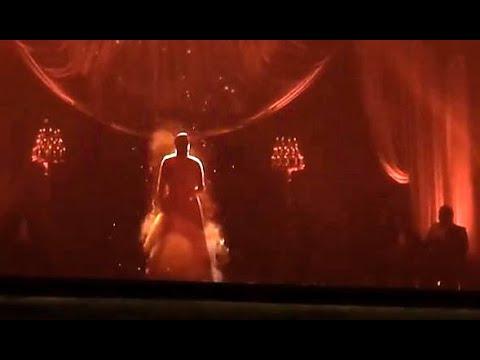 Umm Kulthum hologram - Cairo opera house - ام كلثوم هولوجرام - دار الأوبرا المصرية