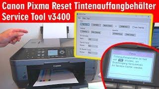 Canon Pixma druckt nicht - Tintenauffangbehälter Resttintentank voll - Reset Service Tool 3400