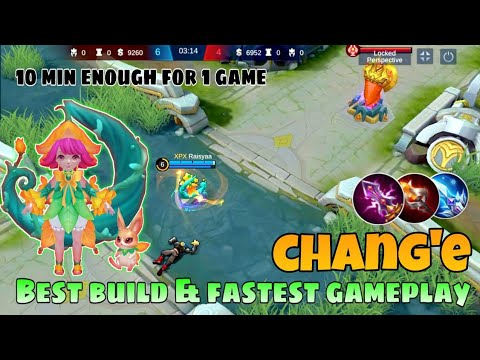 Chang'e Best Build And Gameplay With 100% Op Damage/chang'e Tutorial & Emblem Set : Mobile Legends