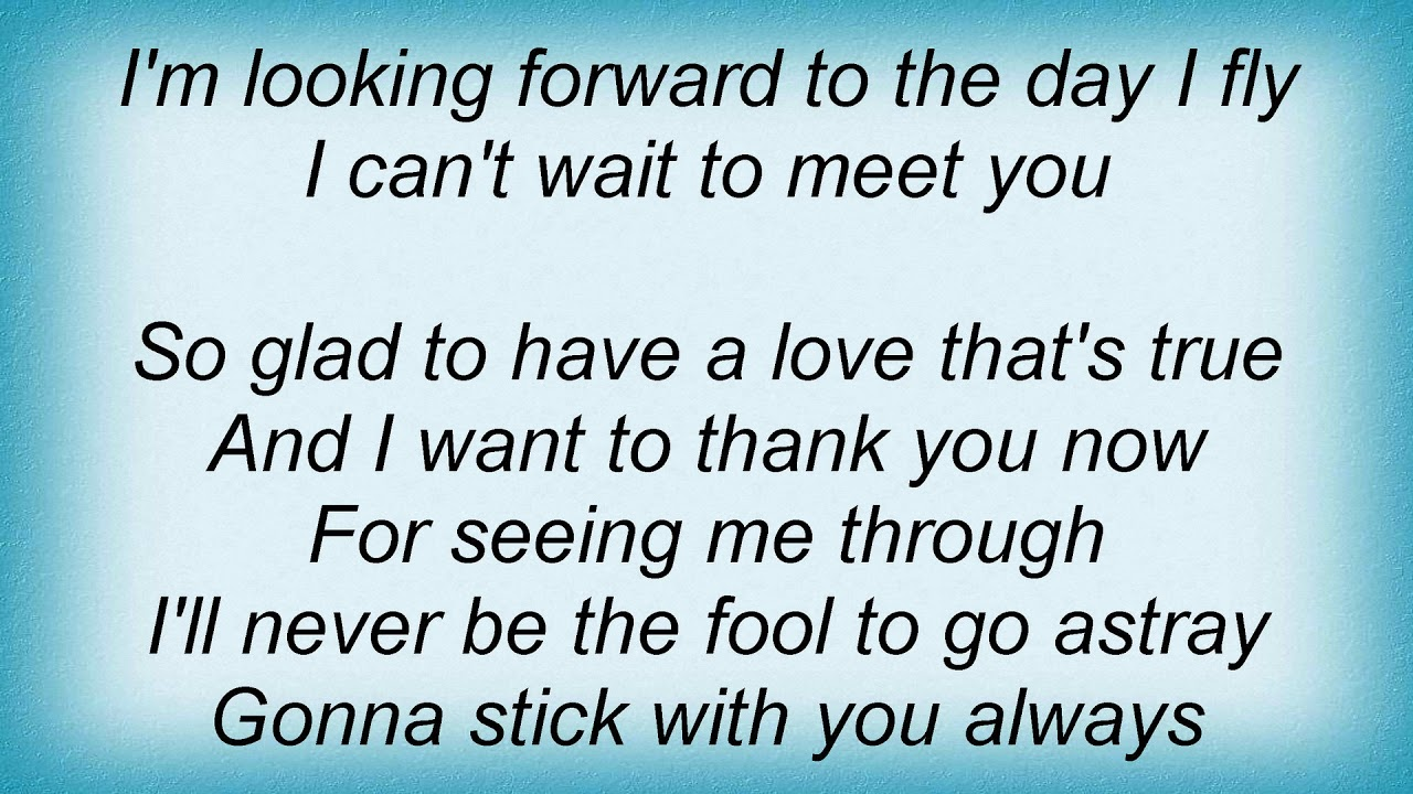 Wynonna Judd I Cant Wait To Meet You Lyrics Youtube