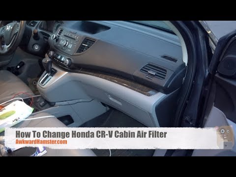 How To Change Honda CR-V Cabin Air Filter - YouTube