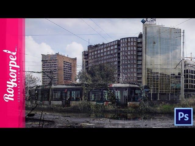 #Photoshop manipulation - Abandoned city Rotterdam Hofplein