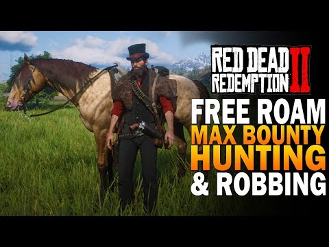 Free Roam, Maximum Bounty, Hunting & Exploring - Red Dead Redemption 2 Gameplay [4K RDR2]