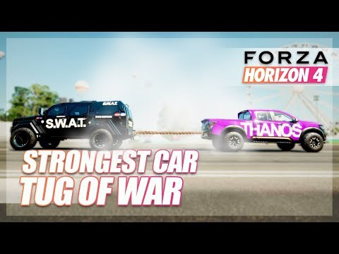 Forza Horizon 4 - What is the STRONGEST Car? (Tug of War) thumbnail