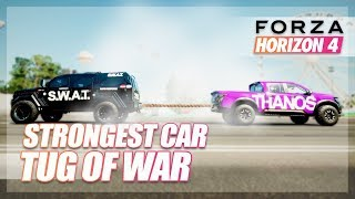 Forza Horizon 4 - What is the STRONGEST Car? (Tug of War)