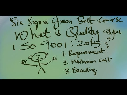 Quality & Six Sigma GB|What is Quality? What does ISO 9001 say? thumbnail