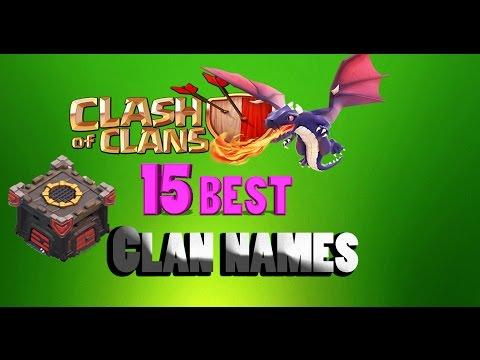 Clash Of Clans - 15 unique Clan Names !!!