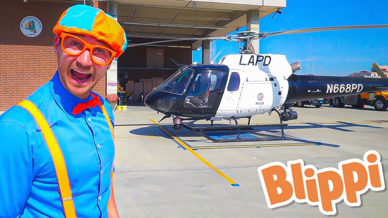 Blippi Explores a Police Helicopter - Educational Videos for Kids