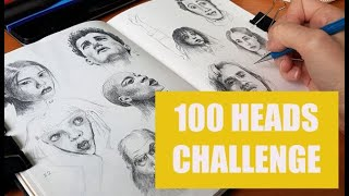 The 100 Heads Drawing Challenge and how you can improve your drawing skills!
