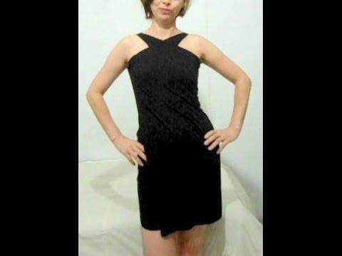 Vestido preto basico de alcinha