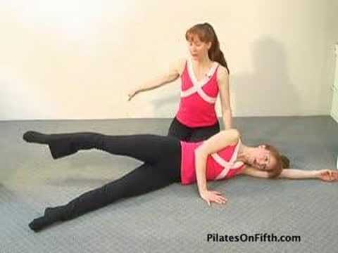 Pilates Workout Exercise Side Lying Bicycle Youtube