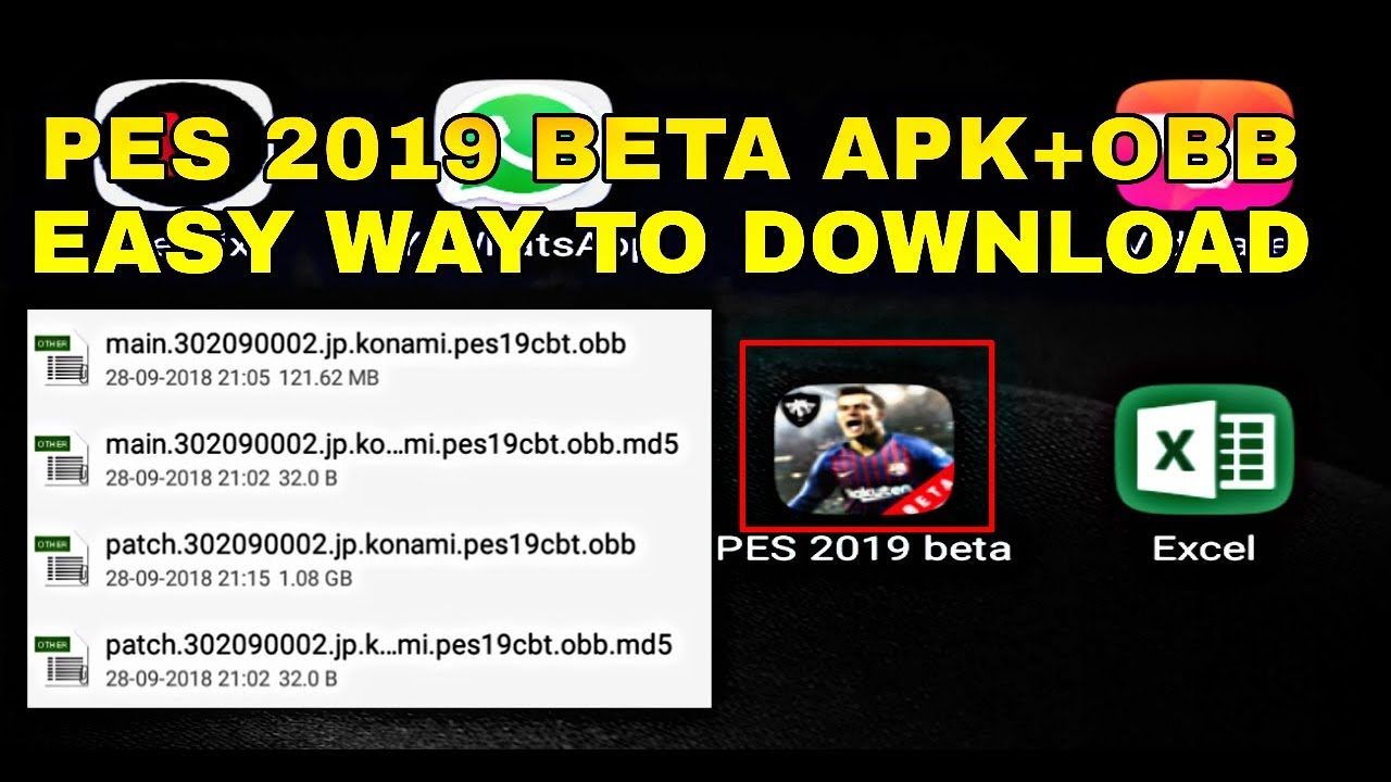 How to download PES 2019 beta Apk+Obb file ||PES 2019||