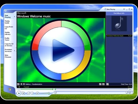 Windows XP Installation Music with XP Media Player 1440x900