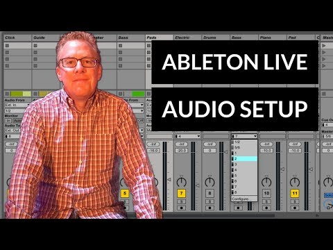 Setting up the outputs of Ableton Live using the headphone jack
