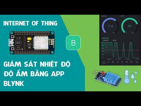 Giám sát nhiệt độ, độ ẩm bằng App Blynk sử dụng NodeMCU ESP8266 | Arduino KIT